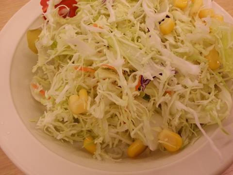 松屋フーズのカルビ焼肉定食 (2)