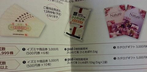 イズミヤの株主優待2013年8月末 (1)