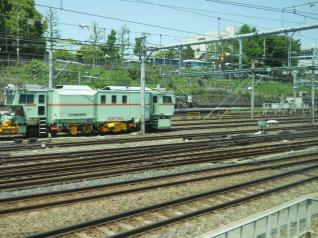 上野直後の大量の線路