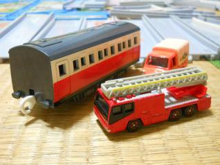 トミカとプラレールの車両も