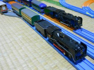 C62+緑の客車