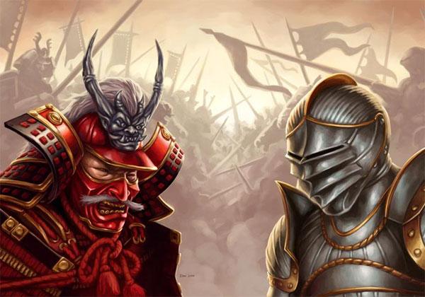 西洋の騎士と日本のサムライが戦ったらどっち勝つ?