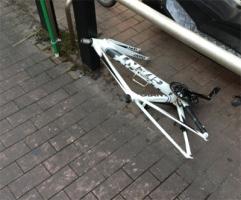 自転車が変な盗まれ方した…