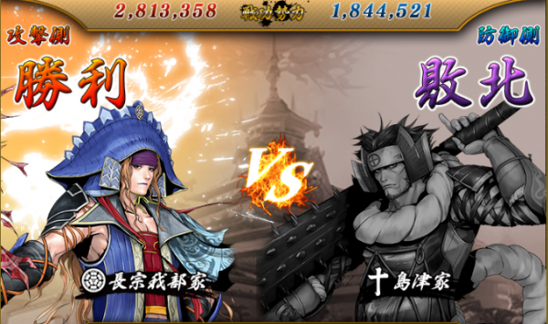 vs島津戦結果2