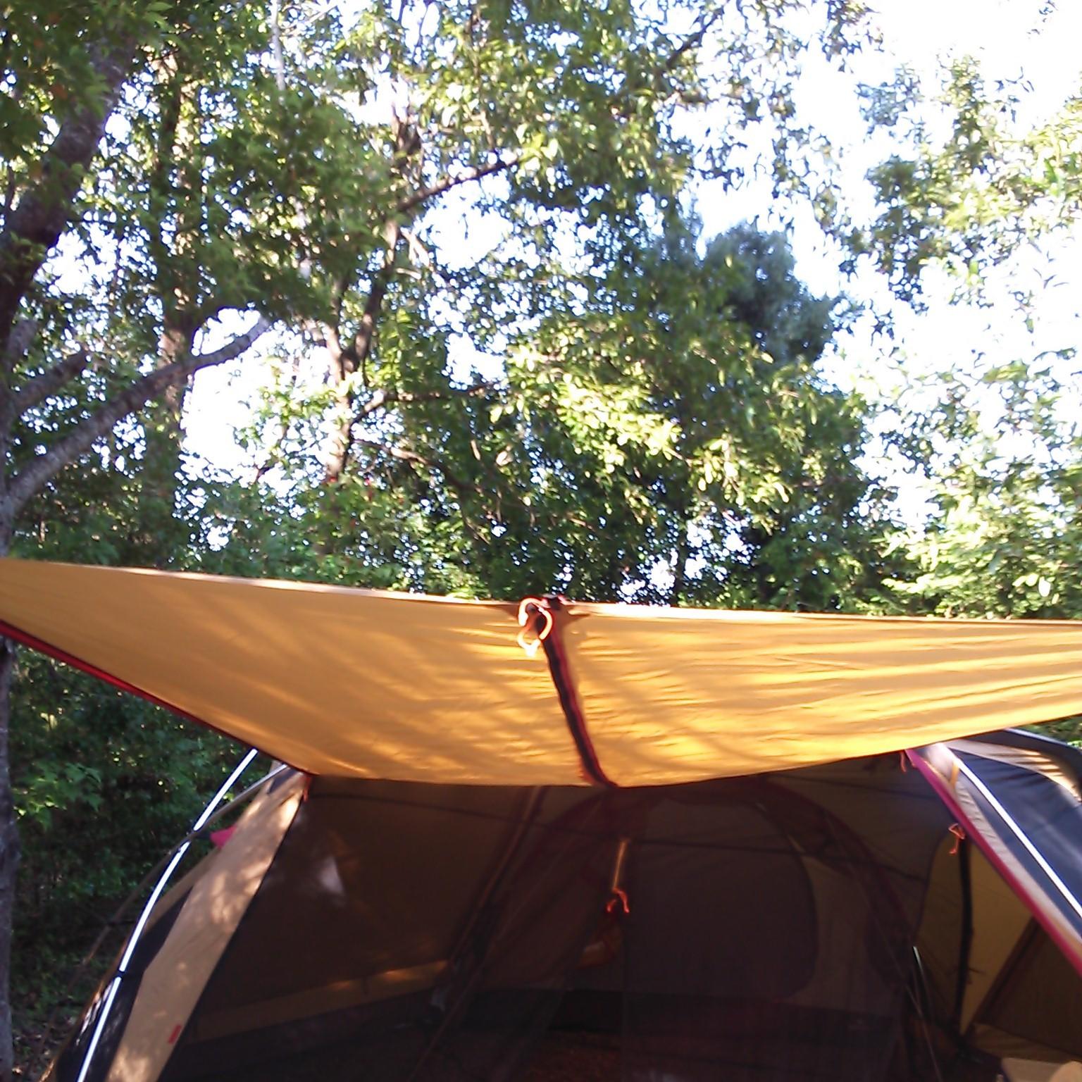 テント設営終了