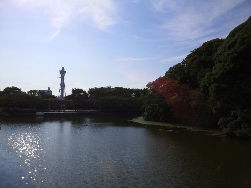 和気橋から見た通天閣 - クリックで拡大