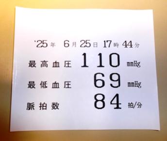 上下ともに、あと10も高ければ嬉しいなぁ。(^_^.)