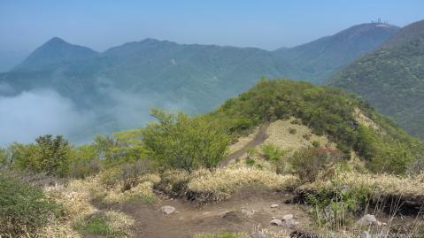 鍋割り山への道