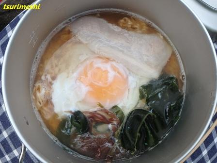 ⑦完成チキンラーメン