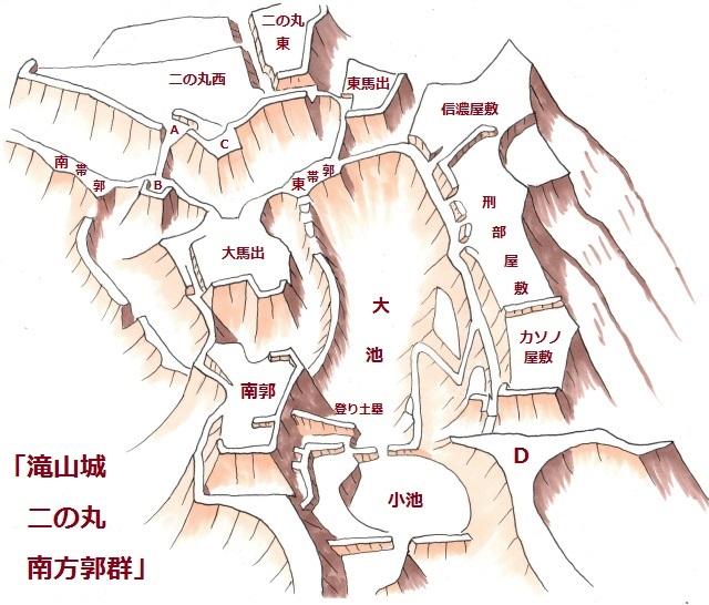 滝山城南方