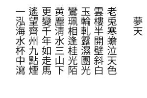 夢天_白文