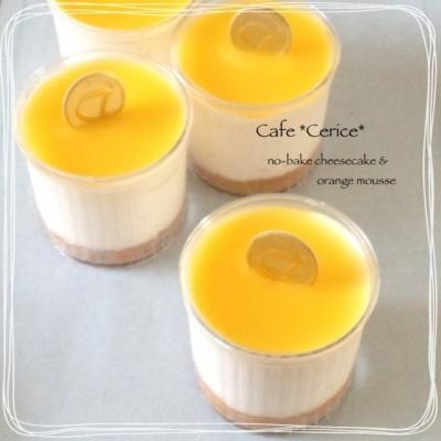 レアチーズ&オレンジムース