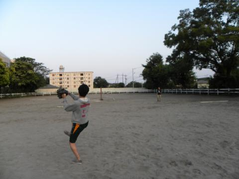 馬場でcatch ball