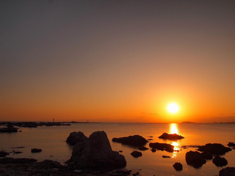 葉山の夕景