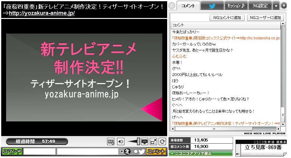 夜桜再アニメ2