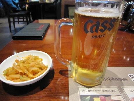 ビールと突き出し