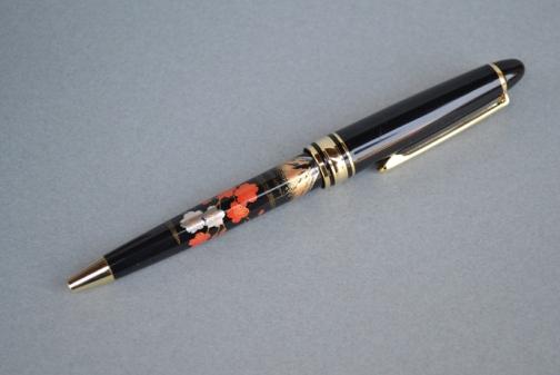 蒔絵ボールペン (富士に桜)