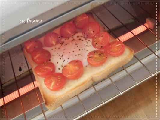 プチトマト・エッグトースト