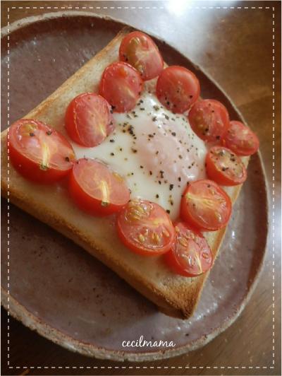 プチトマト・エッグトースト_1