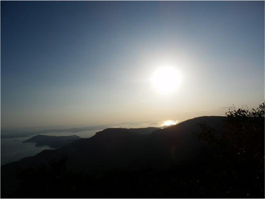 星ヶ城山・もうすぐ日没