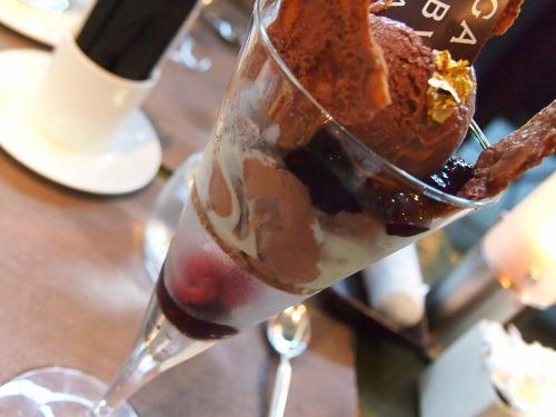 チョコレートパフェ02‐02@BVLGARI IL CAFE