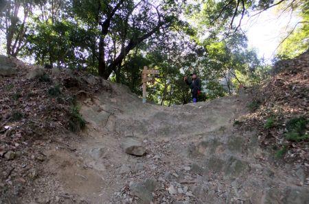 琵琶滝コース合流点