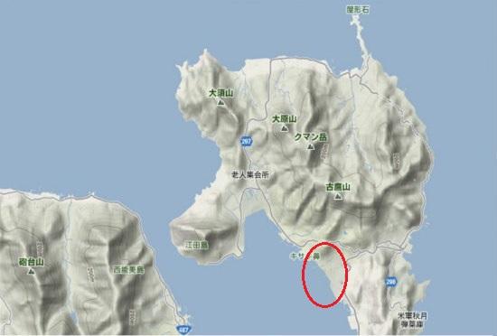 1)江田島町北部・国有無番地