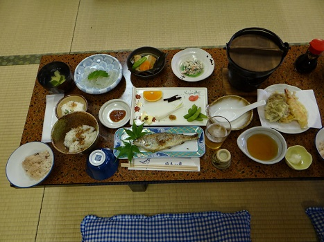 20130601 駒鳥山荘夕食