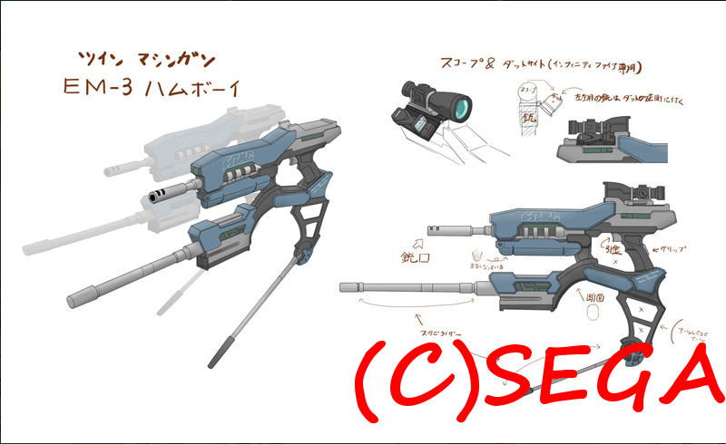 ツインマシンガン武器迷彩[EM-3ハムボーイ]