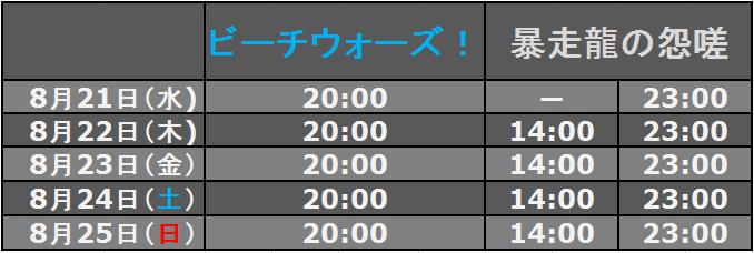 予告イベント日時(20130821)