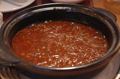 春雨のピリ辛土鍋煮込み