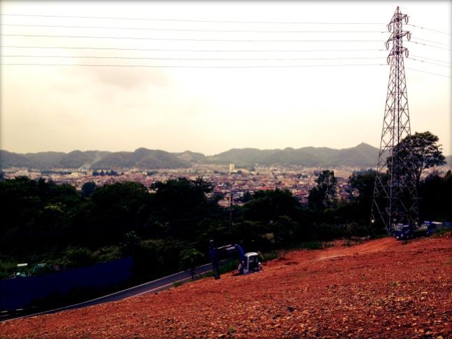 桐生の町を望む。。