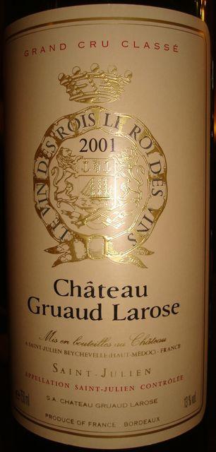 Chateau Gruaud Larose 2001