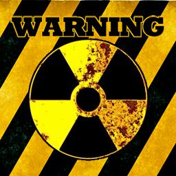 放射線区域警告