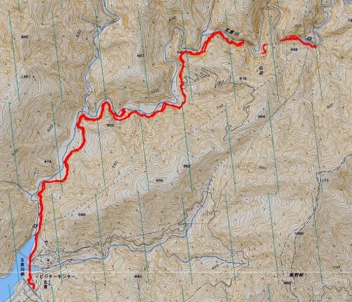 ユーシン渓谷軌跡