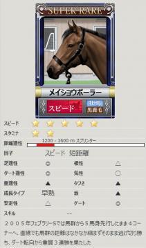 [競争馬カード]メイショウボーラー