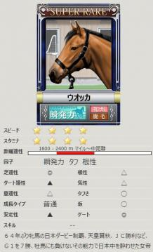 [競争馬カード]ウオッカ