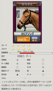 [競争馬カード]カリブソング