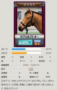 ダビゲ競走馬カード@Rサクラホクトオー