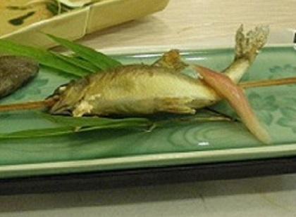 鮎塩焼き001