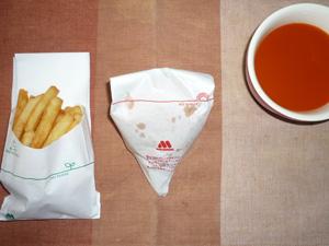 モスバーガー,ポテトL 野菜スープ