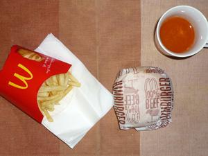 ハンバーガー,フレンチフライポテト(M),野菜ジュース