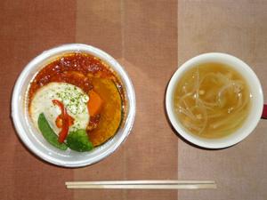 ロコモコ丼,玉葱のスープ