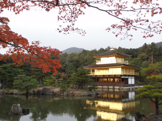2014年11月15日 紅葉と金閣寺