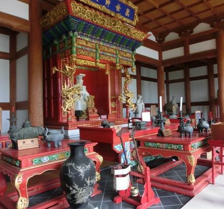 儒教の祖、孔子が祀られた大成殿