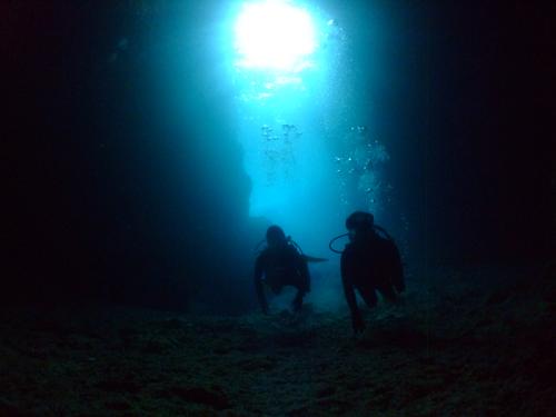青の洞窟内1