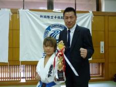 20131014 ジュニア空手新人戦 準優勝 リュウク
