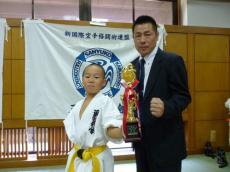20131014 ジュニア空手新人戦 第3位 カイト
