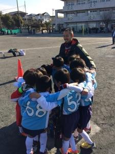 青葉FC SLホワイト vs あざみ野FC(A)【2013年度 青葉区冬季少年サッカー大会U8】/@さつきが丘小学校/少年サッカー