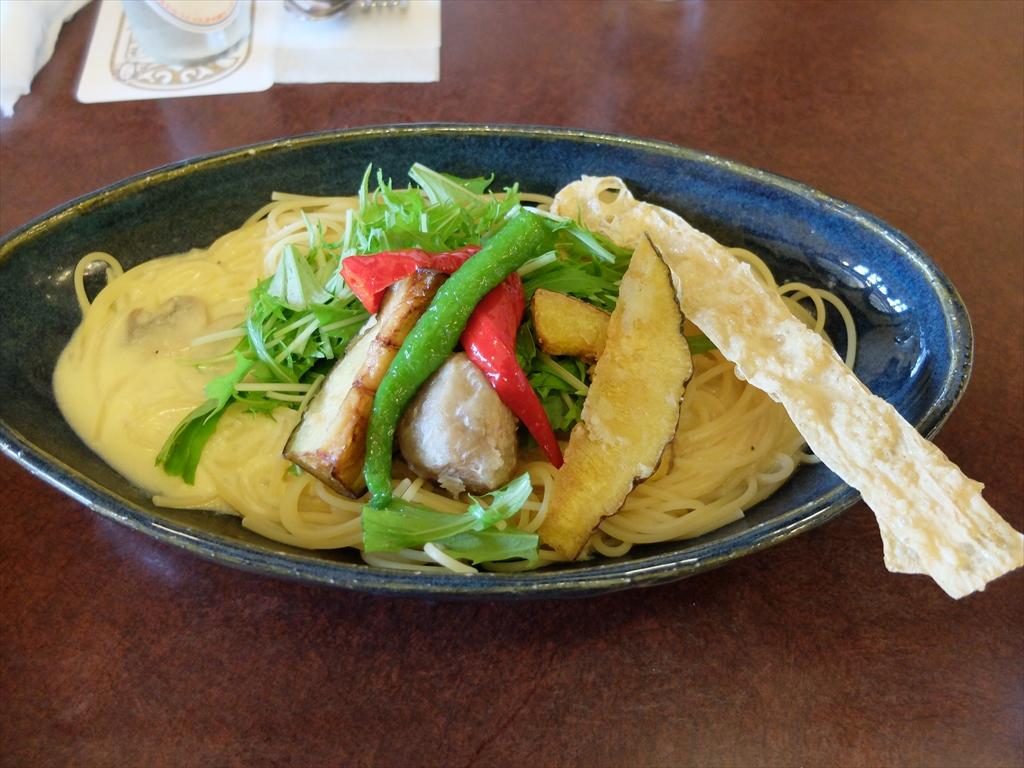 京野菜のパスタ